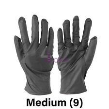 100 Pc Black Nitrile Powder Free Medical Rubber Gloves Disposable M, L, XL