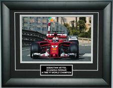 Sebastian Vettel Signed 8X12 inches 2017 Ferrari Monaco GP Photo Frame