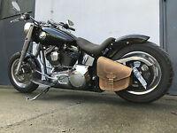 Harley Davidson HELL BRAUN Softail Rahmentasche Für Linke Seite Schwinge Odin