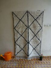beni ourain authentic rug 100% WOOL Moroccan berber rug, tapis beni ouarain