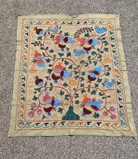Multicolor Embroidery Uzbek Wall Hanging Vintage Original Handmade Suzani