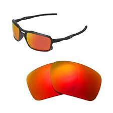 Walleva Fire Red  Polarized Replacement Lenses For Oakley Triggerman Sunglasses