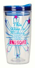 Carlton This Wine is Making Me Awesome Insulated 10 oz. Wine Tumblers