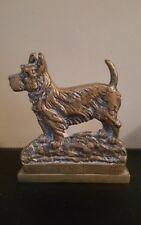 Vintage Heavy Brass Aberdeen Terrier (Scottie)  Dog Doorstop