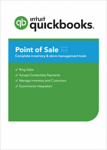 NEW!! QuickBooks POS v19 Basic  New User License- Free Contactless PIN Pad*