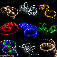"LED Rope Lights 10' 25' 50' 100' 150'ft 2-Wire 3/8"" Accent Christmas Decorations"