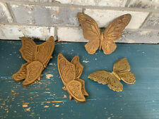 Butterflies vintage Home Interior Universal Statuary 1973 Lot Of 4
