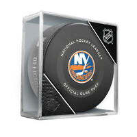 New York Islanders Official NHL Game Hockey Puck (in Display Cube)