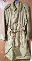 Vietnam Era Vintage US ARMY Raincoat/ Trench Coat Size SHORT-36