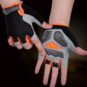 Cycling Non-Slip Breathable Bicycle Gloves Gel Pad Men Women Half Finger Glo Ia