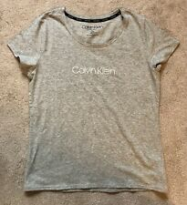 Calvin Klein Grey Womens Nightwear Top, Size L