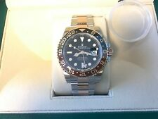 Rolex 18K Rose Gold/SS GMT Master II 40MM 126711 Ceramic BEZEL Root Beer 2018