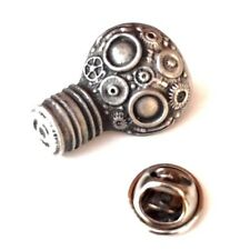 Gas Mask Handcrafted From English Pewter Lapel Pin Badge