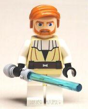 LEGO Star Wars Obi-Wan Kenobi Minifigure With light Saber Sword NEW 7676 9525