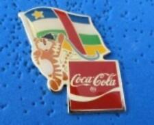 1988 Coca Cola Ltd Edition Flag Pin Central African Rep