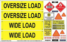 Gear Head RC 1/14 Scale Wide Load & Signs for Tamiya trucks & trailers GEA7031