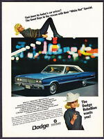 "1967 Dodge Coronet 440 2-door Hardtop photo ""White Hat Special"" promo ad"