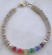 GAY PRIDE sterling silver RAINBOW  bracelet