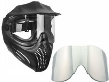Empire Helix paintball Mask/Goggles - Black + Chrome Thermal replacement lens