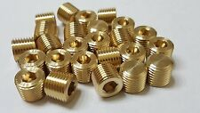 Lot of 25 pcs. 1/4 MIP (Male NPT) Brass Plug Countersunk Hex