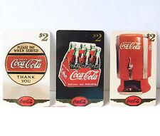 COCA COLA Drei verschiedene TELEFONKARTEN aus 1997 RAR!!! Sammlerstücke!! V1