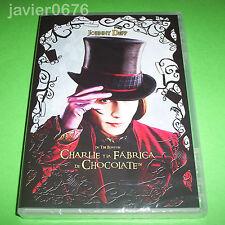 CHARLIE Y LA FABRICA DE CHOCOLATE DVD NUEVO Y PRECINTADO JOHNNY DEPP