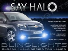 2010-2014 Chevrolet Chevy Orlando Blue Halo Fog Lamps Driving Lights Angel Eyes