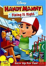 Disney Junior Handy Manny Fixing It Right Kids Handyman Talking Tool Friends DVD