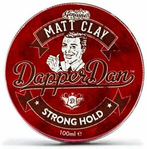 Dapper Dan Matt Clay Strong Hold Hair Styling Product For Men 100ml