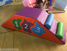 "Soft Play Step, Block & Slide soft play 18"" x 18"" x 58"" log steps FREE POST"