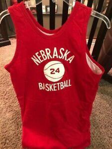 New Old Stock Champion Brand Nebraska Huskers Basketball Practice Jersey #24 LG