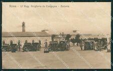 Roma Città Caserma Militari Artiglieria cartolina QT2223
