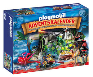 PLAYMOBIL Calendario dell'Avvento Covo Dei Pirati Natale 70322 PLAYMOBIL