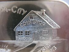 1- TROY OZ RARE COIN-A-RAMA-CITY HAWTHORNE CA. 10TH ANNIVERSARY SILVER .999+GOLD