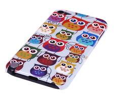 Hülle f Apple iPod Touch 5 5G Schutzhülle Tasche Case Cover Owl kleine Eule bunt