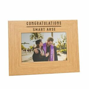 """Congratulations Smart Ar*e"" Photo Frame - Funny Graduation Leaving Work Gifts"