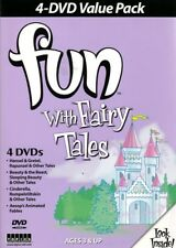 4 DVD Set of Fairy Tales - Rapunzel +Tortoise & the Hare + Hansel & Gretel +MORE