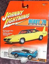 2001 Johnny Lightning Heavy 70'S Blue '70 Plymouth Superbird 1:64 Diecast 6+ Boy