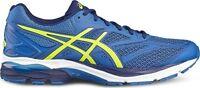 Scarpe running uomo Asics Gel Pulse 8 T6E1N-4907 azzurro-giallo fluo mesh