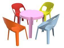 Resol Rita set infantil de 4 1 (1 mesa Rosa 4 sillas Roja/naranja/azul/lima)