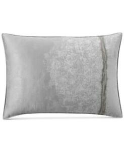 Set of 2 Hotel Collection  Muse Standard Shams, Gray,