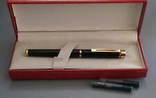 SHEAFFER TARGA Black Classic Fountain Pen 14K STUB
