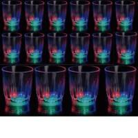 48 pcs Light-Up Shot Glasses LED Flashing Drinking Blinking Barware Party Glass