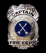 Fire Dept Captain Pin Miniature Badge Eagle Lapel Cap Tac Promotional Member New