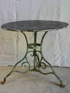 """Late 19th Century round Arras garden table with claw feet 32"""""""