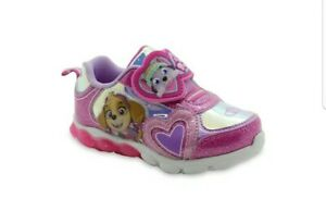 Paw Patrol Toddler Girls' Nickelodeon Light-up Athletic Sneakers Shoes pink/ 11