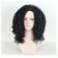 African American Hair style Black afro kinky Medium Jerry curly Women's Wigs Wig