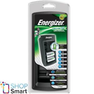 Energizer Accu Recarga Universal Cargador Para AAA Aa C D 9V 6F22 Baterías Nuevo