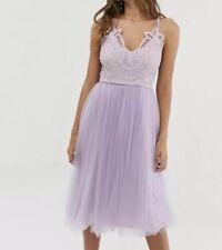 ASOS Lilac Tulle Skirt Midi Dress 8