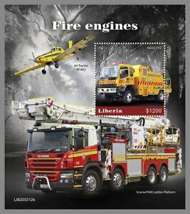 LIBERIA 2020 ** Feuerwehr Camions de Pompiers Fire Engines #15-312bB